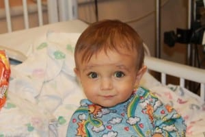 Riley, soon after arriving at Children's Hospital Colorado